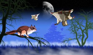 The Flying Squirrels of Nosferatu by jonmaas