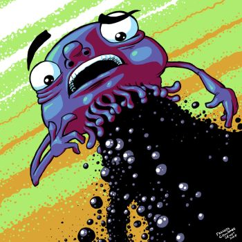 Tar Monster by FrankieSmileShow