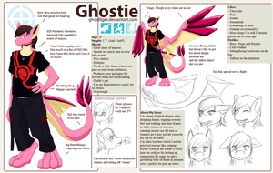 Ghostie as a dragon by GhostLiger