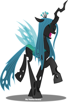 Chrysalis happy by Vector-Brony