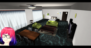 [MMD] Bedroom with Living Room DL ~ by o-DSV-o