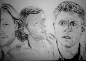 Sam, Cas and Dean by JH-creator