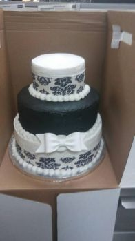 black and white wedding cake by AuraLeighDragon