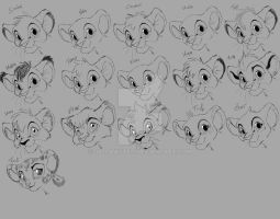All official named Lion King Lion Cubs and Fuli xD by JB-Pawstep