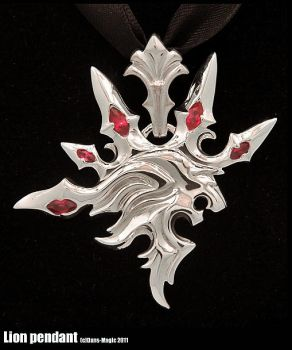 Artistic Lion Pendant by EagleWingGallery