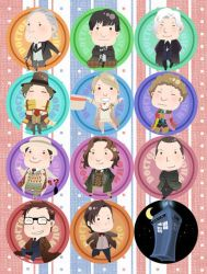 Doctor Who Buttons by PlainPaper