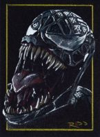 Venom - Sketch Card by J-Redd