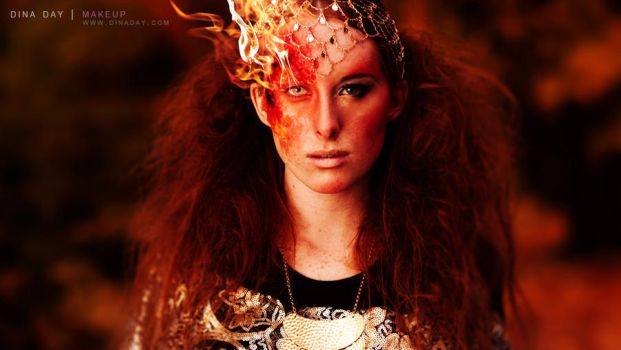 Fire with no Ice by DinaDayMakeup
