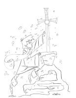 Sword in the Stone by LightBombMike