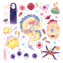 Spirited Away Stickers by Naomame