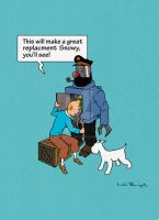 Tintin by Bladien