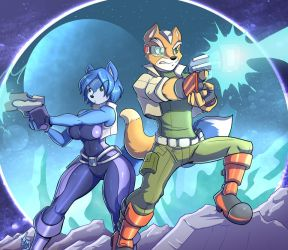 Fox and Krystal by TheGraphicNovelist