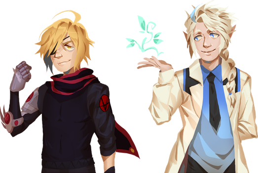 C: Alucard and Arias by Pyro-Zombie
