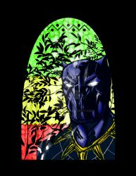 Official Marvel Black Panther Stained Glass