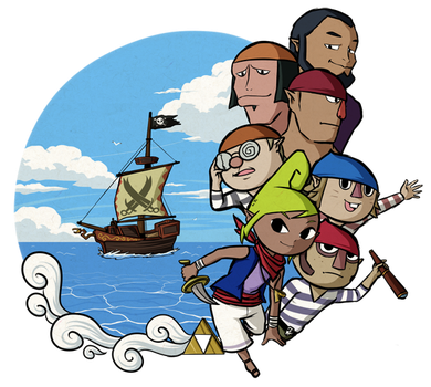 Link's Friend List: Captain Tetra+Crew by Icy-Snowflakes