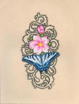 Butterfly Blossom by wendyBAZUTA