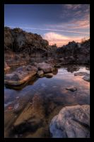 Sunset over Great Falls by Mashuto