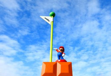 Mario at the FlagPole by kilroyart