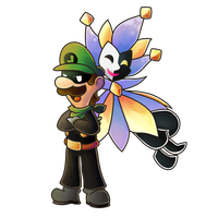 Dimentio and Mr L by MuzYoshi