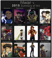 Happy New Year - 2015 Art Summary by hlwar