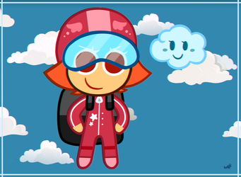 : Skydiver Cookie : by Amazing-Girl-Forever