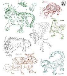 Sketches Of Monsters by Kairu-Hakubi