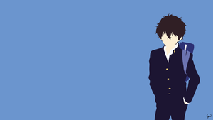 Oreki Houtarou (Hyouka) Minimalist Wallpaper by greenmapple17