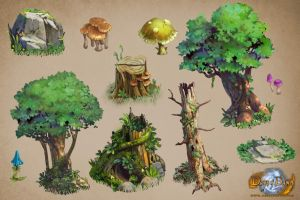 forest asset sample days of dawn by TylerEdlinArt