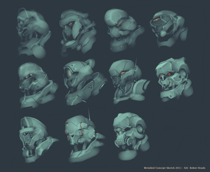 ROBOT HEADS by metalkid