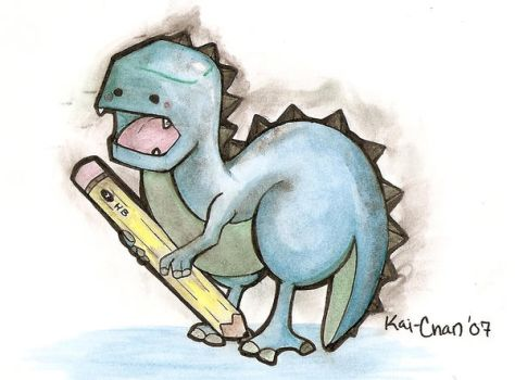 Charlie- the Thesaurus Rex by thedandmom