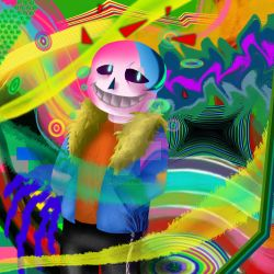 Sans - abstract work by constancelea