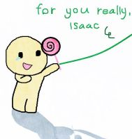 Candy for Isaac. by Mie078