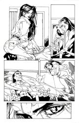 Randy Green Page Inked by MJValle