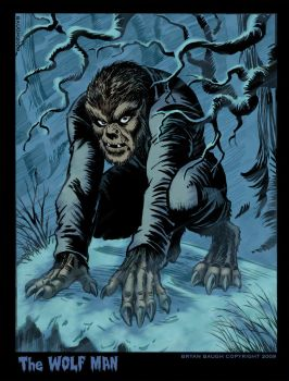 The Wolf Man in Winter by BryanBaugh