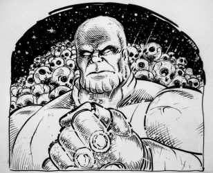 Jim Starlins Thanos by theEvilTwin