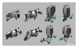 Waframe: Corpus Shuttle Sketches by SBigham