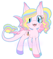 Dragonpony Auction - [PowderPuff] - Closed by Sillohette-Adopts