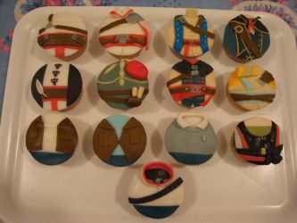 Assassin's creed cupcakes by Valkyrie-21