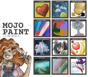 Mojo Paint 1.0 preset bundle for Krita by ezsaeger