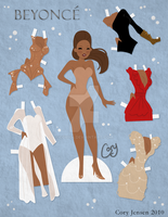 Beyonce Paper Doll by Cor104