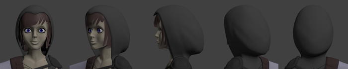 Unamed character bust turntable by crispychaney