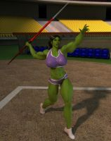 Javelin Practice by willdial
