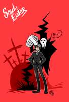 Death the Kid and Shinigami-sama by Xenia-Cat