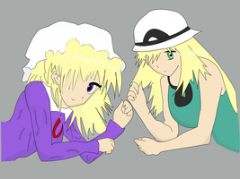 TwitchPlaysPokemon: Sister Hosts Amber and Athena by sevenrubies