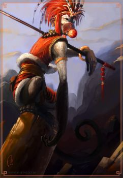 Sun Wukong - The monkey king by Vaejoun