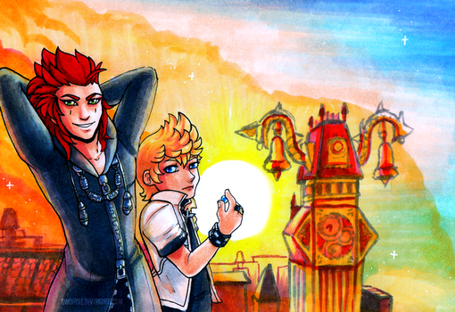 KH: Twilight Town by owopyre