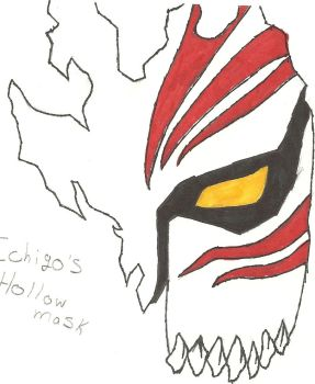 ichigo's hollow mask by blacksanctaurywolf