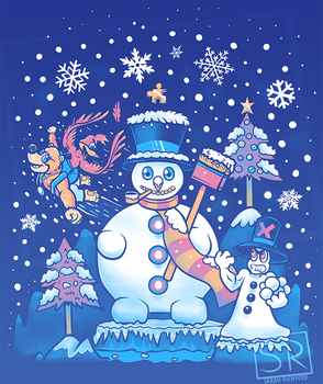 Freezy Winterland Banjo Kazooie shirt design by SarahRichford