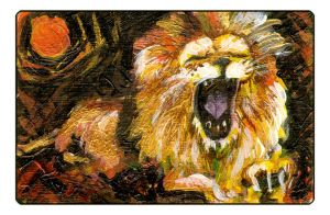 A Gress Lion by maxine
