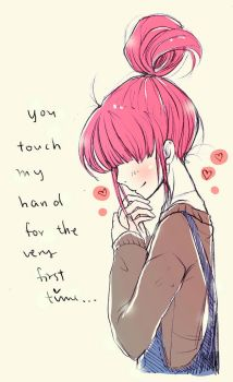 You touched my hand for the first time by KarolinaMixiao